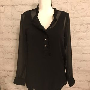 Black Sheer Blouse by H & M